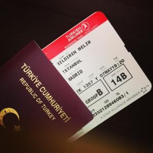 Madrid gezisi uçuş kartı